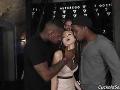 See Isiah`s massive pop shot deep into Gina`s tiny asshole!!