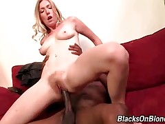 Attractive Blonde Jumps On Big Black Dick 2
