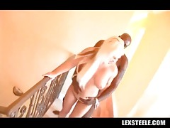 Nasty Andi Anderson tastes her pussy juices from Lex Steele`s rod.