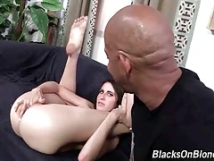 Attractive Kara Price gets her eager pussy filled with black man cum.