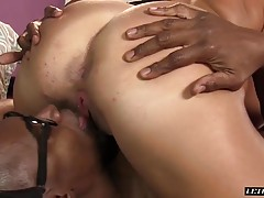 She can feel his cock sliding into her fucking insides!