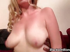 Attractive Blonde Jumps On Big Black Dick 1