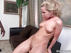 Black Stud Ruthlessly Assfucks White Slutie 1