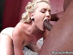 Turned on tough black dude deeply penetrates white slutie.