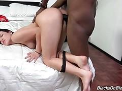 Marley Matthews gladly welcomes big black dick inside her cunt.