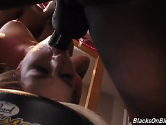 This bitch loves to suck and fuck. Balls deep up that asshole. Big black dick shoved down her throat